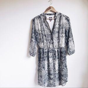 Snakeskin Button Down Dress